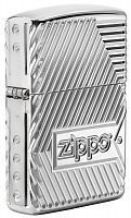 Зажигалка Zippo Armor с покрытием High Polish Chrome, латунь/сталь, серебристая, 36x12x56 мм, 29672