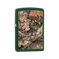 Зажигалка ZIPPO MOSSY OAK® BREAK-UP с покрытием Green Matte, латунь/сталь, зелёная, 36x12x56 мм, 29129