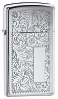 Зажигалка Zippo Slim Venetian High Polish Chrome № 1652