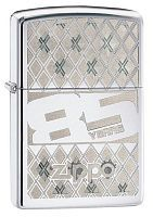 Зажигалка ZIPPO 85 с покрытием High Polish Chrome, латунь/сталь, серебристая, 36x12x56 мм, 29438