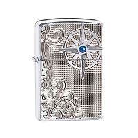 Зажигалка ZIPPO Armor™ с покрытием High Polish Chrome, латунь/сталь, серебристая, 36x12x56 мм, 28809