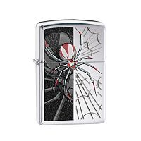 Зажигалка ZIPPO Classic с покрытием High Polish Chrome, латунь/сталь, серебристая, 36x12x56 мм, 28795